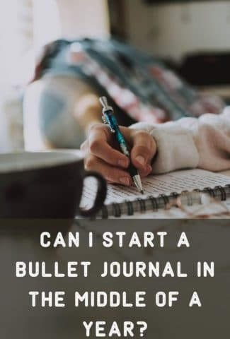 Can I Start a Bullet Journal in the Middle of a Year